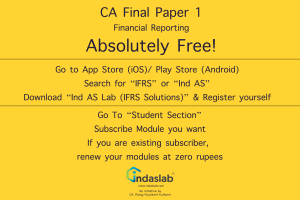 CA Final Paper 1 FR Now Absolutely Free by Ind AS Lab